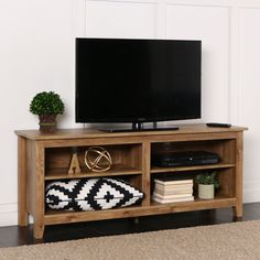 Amazon.com: New 58 Inch Wide Barnwood Finish Television Stand: Kitchen & Dining