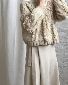 """blueberrymodern: """"Kordal Studio - cable knit sweater via Either And """" Winter Wear, Autumn Winter Fashion, Winter Style, Evelyne Dheliat, Wooly Bully, Vogue, Knitwear Fashion, Women's Fashion, How To Purl Knit"""