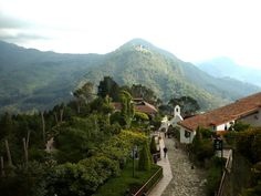 Monserrate Church located in the mountains of Bogota Colombia. It was not an easy hike up the mountain, but worthwhile for the sight!