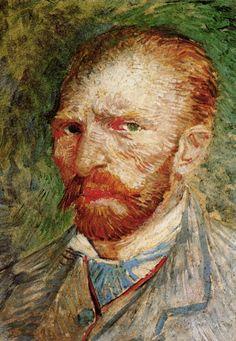Vincent van Gogh, Self Portrait, Oil on cardboard, x 24 cm 1887 Kröller-Müller Museum © Kröller-Müller Museum MILAN.- The exhibition 'Van Gogh. Man and the Earth', held in the Pala… Post Impressionism, Impressionism, Art Van, Artist, Van Gogh Self Portrait, Painting, Vincent Van Gogh Paintings, Painting Reproductions, Portrait