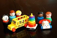World's Smallest Fisher Price replicas.  These adorably small toys move and are only $5.99!