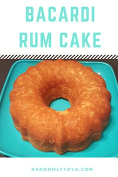 The Bacardi Rum Cake is my favorite cake to make and eat. So moist and yummy! http://randomlyyaya.com/bacardi-rum-cake/