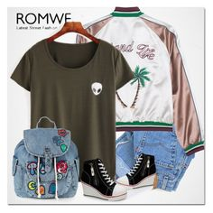 """""""romwe"""" by ilona-828 ❤ liked on Polyvore featuring Levi's, Topshop and romwe"""