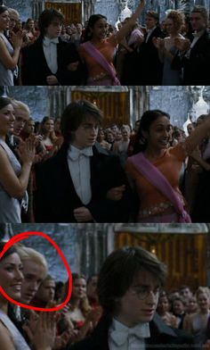 "drarry<<Draco: ""How the f**k did he get a date? With that Hair?? WTF?!"