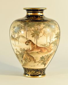 Buy online, view images and see past prices for Japanese Satsuma Vase with Tiger Scene - Hattori Rong San. Invaluable is the world's largest marketplace for art, antiques, and collectibles.
