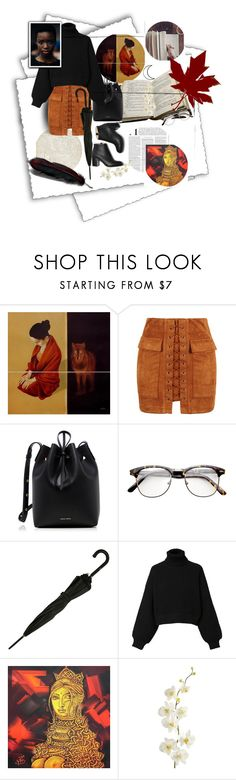 """""""Library"""" by acpcxx ❤ liked on Polyvore featuring BasicGrey, GET LOST, NOVICA, WithChic, Mansur Gavriel, Jean-Paul Gaultier, Diesel, Pier 1 Imports and Maiyet"""