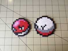 Pokemon Bead Sprite Set Voltorb Family by ToughTurtles on Etsy, $5.50