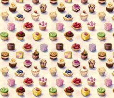 spoon_flower_cakes fabric by daniellehanson on Spoonflower - custom fabric