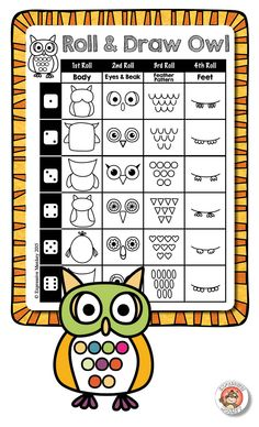Roll & Draw Owl