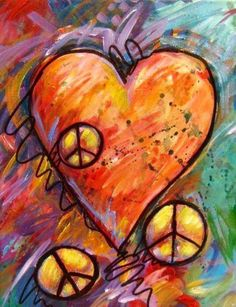 Peace signs with hearts                                                       …