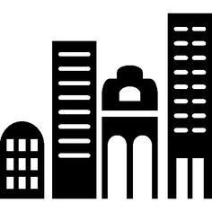 Skyscraper buildings in a city I Free Icon