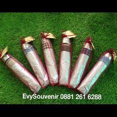 #souvenir #payung #lipat 3 #silver dalam kotak2