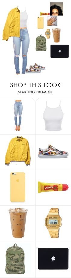 """""""Untitled #186"""" by baby-crooksanford ❤ liked on Polyvore featuring LE3NO, Polo Ralph Lauren, Vans, Carmex, Casio and Billabong"""