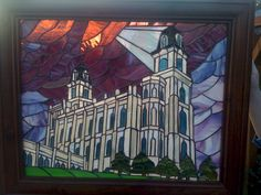 stained glass manti temple