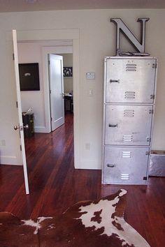 Locker storage.