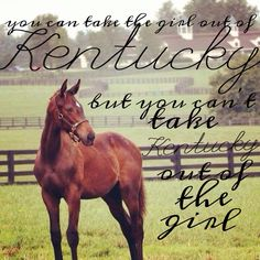 You can take the girl out of Kentucky, but you can't take the Kentucky out of the girl.