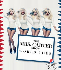 New Mrs. Carter World Tour poster features four Beyonces in blonde wigs