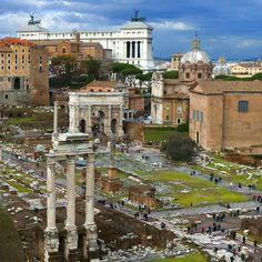 Rome: at the foot of the Campidoglio (Capitol or), between the Palatine and the Fori Imperiali, is the Roman Forum (or what's left of it).