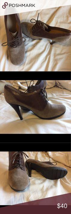 62006bfeac2b Tan suede Nine West heels Tan suede heels with laces - never worn! Nine  West Shoes Heels