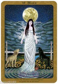 La lune, tarot.