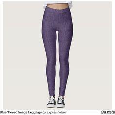 Blue Tweed Image Leggings ❤ liked on Polyvore featuring pants, leggings, blue leggings, blue trousers, wool tweed pants, tweed trousers and blue pants