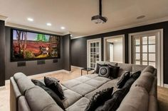 Minimalist Home Theater Design Ideas. Home theater design, having a home theater in the home is certainly a thing desired by those who like to watch movies. The intimate and exciting atmos. Home Theater Room Design, Home Cinema Room, Home Theater Decor, At Home Movie Theater, Home Theater Rooms, Home Theater Seating, Home Decor, Home Theatre, Theater Seats
