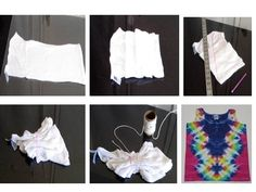 tie dye lightning bolt instructions and Tie Dye Tips, How To Tie Dye, How To Dye Fabric, Shibori, Tie Dye Folding Techniques, Tie Dye Tutorial, Diy Clothes Accessories, Tie Dye Crafts, Diy Crafts