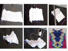 lightning bolt tie-dye folding instructions