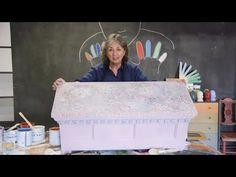 Annie Sloan llayered different Chalk Paint® colors including Barcelona Orange, Old White, Antoinette and Greek Blue. Take a look at the video to see just how easy (and fun!) it is to create random patterns using Chalk Paint®! | Annie Sloan - YouTube