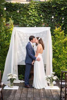 rooftop wedding in Brooklyn // photo by Betsi Ewing // http://ruffledblog.com/modern-diy-brooklyn-wedding