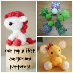 <p>Amigurumi is a great way of using up those odds and ends in your stash. Choose a pattern, pick up a hook and get crocheting today!</p>