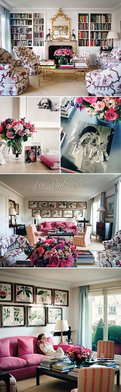 I'm really into floral couches lately! Lee Radziwill's apartment
