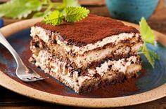 Tiramisu - The delightful tiramisu recipe with sponge Rngers soaked in coffee, layered around and smeared with a creamy mascarpone mixture. The word 'tiramisu' in Italian means 'pick-me-up'. Owing to its caffeine kick it sure does! No Bake Desserts, Just Desserts, Delicious Desserts, Dessert Recipes, Yummy Food, Cake Recipes, Yummy Treats, Sweet Treats, Italian Desserts