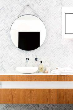 Herringbone Mosaic Wall