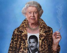 'Killer Queen' artwork: 💫 by the Soul Killer Queen, Weekend Meme, Carine Roitfeld, Save The Queen, Arte Pop, Freddie Mercury, Surreal Art, Funny Art, Famous Faces
