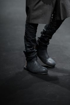 backless leather boots, men's leather pants.