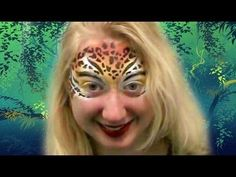 Cheetah Face Paint Tutorial Using Stencil Eyes