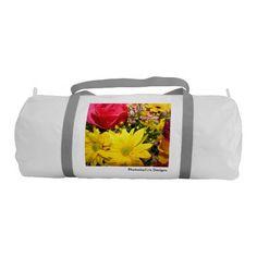 Simply Flowers Gym Duffel Bag