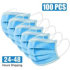 Face Mouth Anti Virus Mask Disposable Protect 3 Layers Filter Dustproof Earloop Non Woven Mouth Masks 48 hours Shipping Wuhan, In China, Flu Mask, Stoff Design, Virus, Masked Man, Protective Mask, Masks For Sale, Health Care