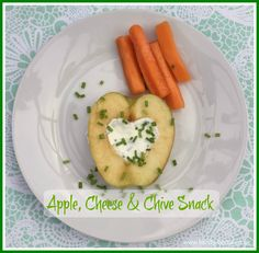 Apple, Cheese & Chive - Simple but healthy snack that children will enjoy.