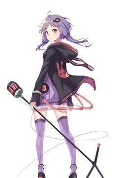 Vocaloid Yuzuki Yukari. I love purple!
