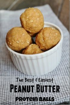 The Best & Easiest Peanut Butter Protein Balls