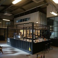 Container House Design Cafe – Shipping Container US Container Cafe, Container House Design, Container Houses, Retail Interior, Cafe Interior, Container Architecture, Interior Architecture, Industrial Cafe, Industrial Style