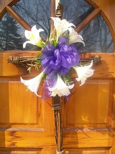 Easter Wreath Grapevine Cross