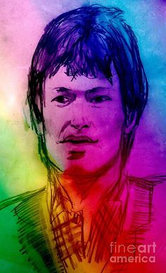 Rainbow Portrait Of Stevie Winwood Drawing
