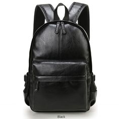 Funky Backpacks, Men Women 2018 New Brand Preppy Style Leather School Backpack, Bag For College Simple Design Men Casual Daypacks mochila male New. shop now click this image.