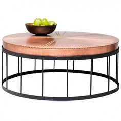mesa estilo industrial redonda