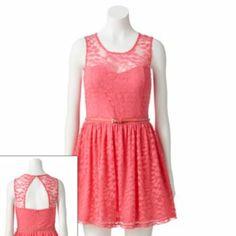 73af169796 Candie s Lace Sweetheart Skater Dress - Juniors  39.99   Kohl s 8th Grade  Formal Dresses