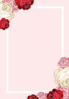 Vector painted pink roses border background Framed Wallpaper, Flower Background Wallpaper, Holiday Wallpaper, Flower Backgrounds, Background Images, Pastel Wallpaper, Wallpaper Backgrounds, Iphone Wallpaper, Wallpapers