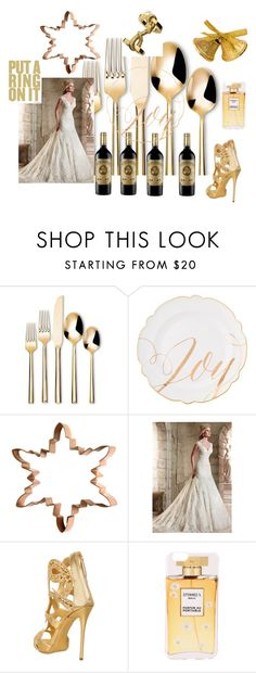 """""""Put a ring on it"""" by pilpanher ❤ liked on Polyvore featuring Threshold, H&M, Giuseppe Zanotti and Iphoria"""